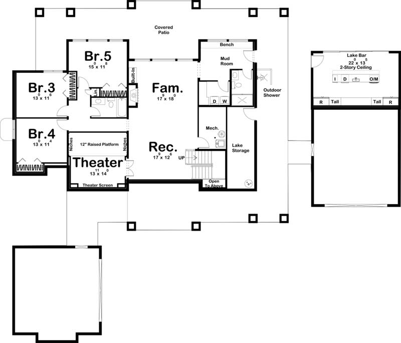 Lower Floor Plan: 52-494
