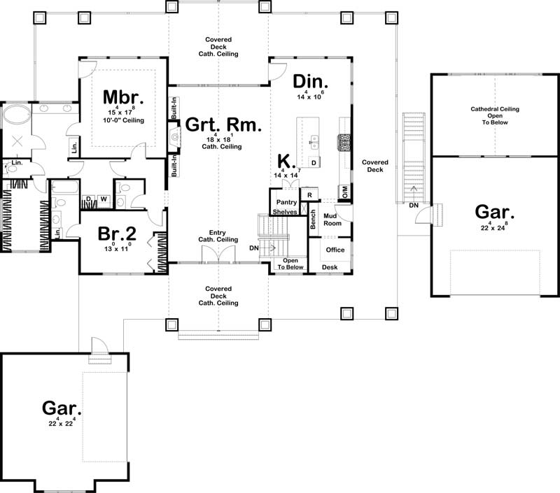 Main Floor Plan: 52-494