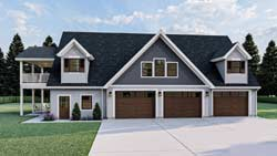 Carriage Style House Plans Plan: 52-495