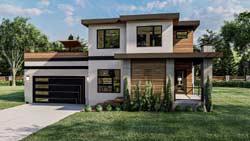 Modern Style House Plans Plan: 52-498