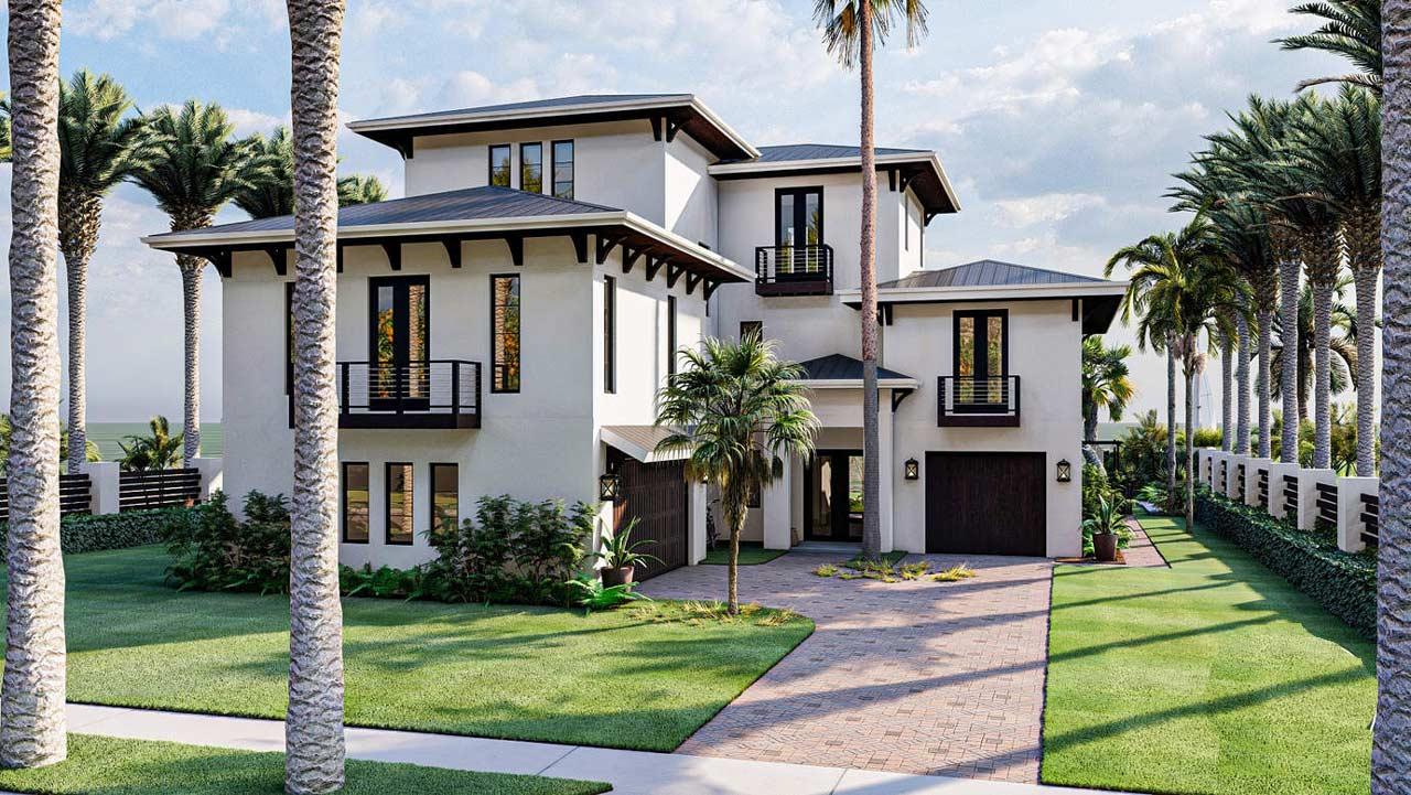 Modern Style House Plans Plan: 52-499