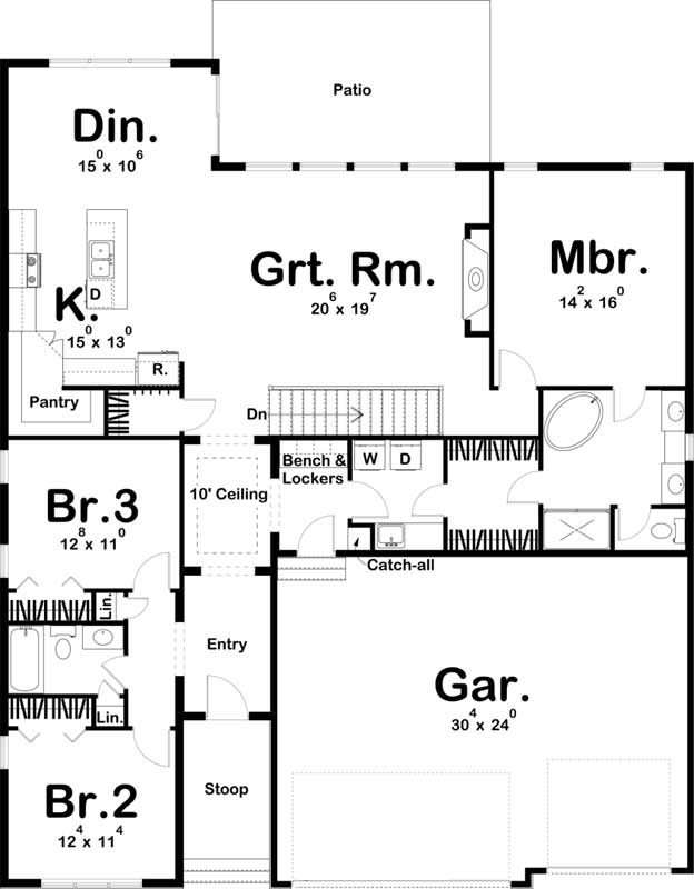 Main Floor Plan: 52-502