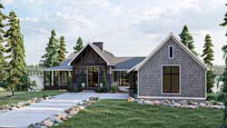 Mountain-or-Rustic Style Home Design Plan: 52-504