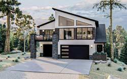 Contemporary Style Home Design Plan: 52-515