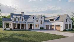 Modern-Farmhouse Style House Plans Plan: 52-517