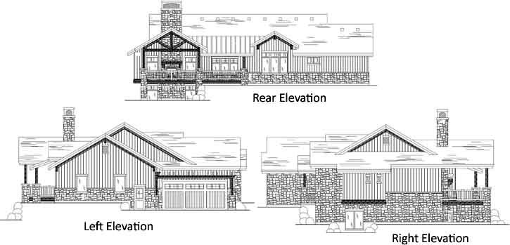 Rear Elevation Plan: 53-114