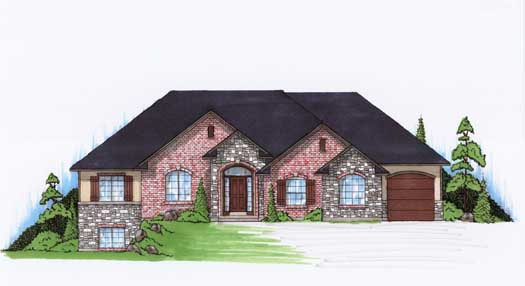 Traditional Style Home Design Plan: 53-117