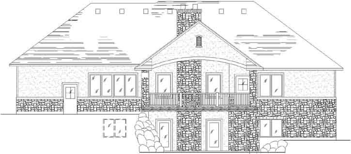 Rear Elevation Plan: 53-117