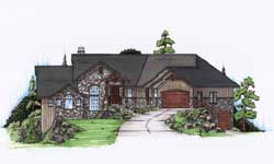 Traditional Style Home Design Plan: 53-145