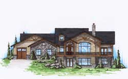 Craftsman Style Home Design Plan: 53-152