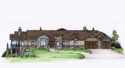 Mountain-or-Rustic Style Floor Plans Plan: 53-157