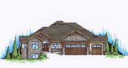 Craftsman Style Home Design Plan: 53-161