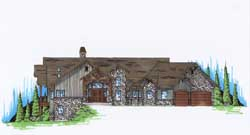 Mountain-or-Rustic Style House Plans Plan: 53-189