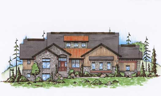 Mountain-or-rustic Style House Plans Plan: 53-196