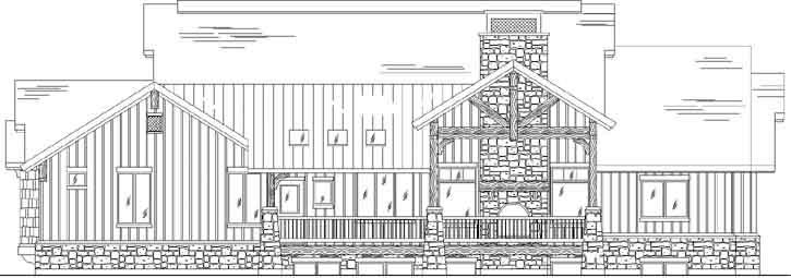 Rear Elevation Plan: 53-196