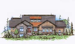 Mountain-or-Rustic Style House Plans 53-196