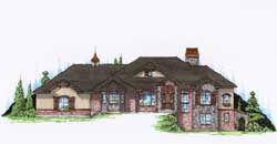 Traditional Style Home Design Plan: 53-207