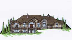 Mountain-or-Rustic Style House Plans Plan: 53-223