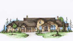 Mountain-or-Rustic Style Floor Plans Plan: 53-232