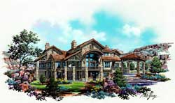 Mountain-or-Rustic Style Floor Plans Plan: 53-235