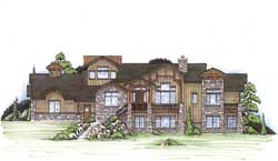 Mountain-or-Rustic Style Floor Plans Plan: 53-242