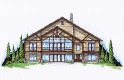 Mountain-or-Rustic Style Floor Plans Plan: 53-244