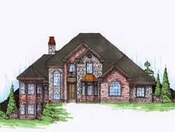 Traditional Style Home Design Plan: 53-253