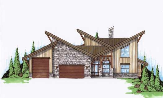 Modern Style House Plans Plan: 53-272