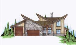 Modern Style House Plans Plan: 53-272