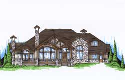 Mountain-or-Rustic Style Floor Plans Plan: 53-281