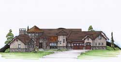 Country Style Home Design Plan: 53-303
