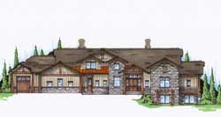 Mountain-or-Rustic Style Home Design Plan: 53-308