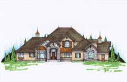 Traditional Style Home Design Plan: 53-310