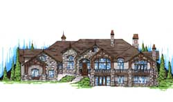 Mountain-or-Rustic Style Home Design Plan: 53-315