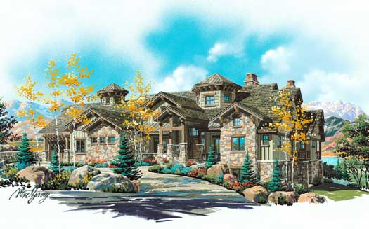 Mountain-or-rustic Style House Plans Plan: 53-330