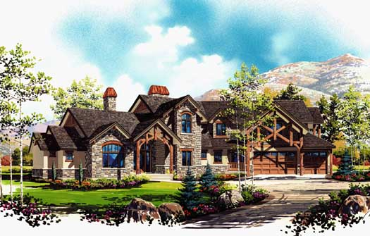 Mountain-or-Rustic Style House Plans Plan: 53-333