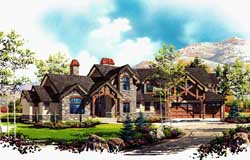 Mountain-or-Rustic Style Floor Plans Plan: 53-333