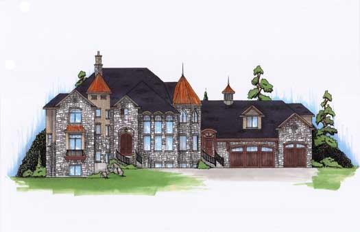 European Style House Plans Plan: 53-334