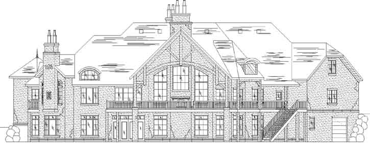 Rear Elevation Plan: 53-335