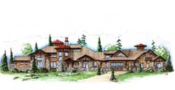 Mountain-or-Rustic Style Floor Plans Plan: 53-336