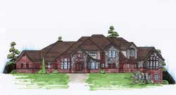 French-Country Style Floor Plans Plan: 53-337