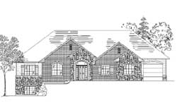 Traditional Style Home Design Plan: 53-350