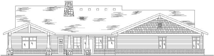 Rear Elevation Plan: 53-370