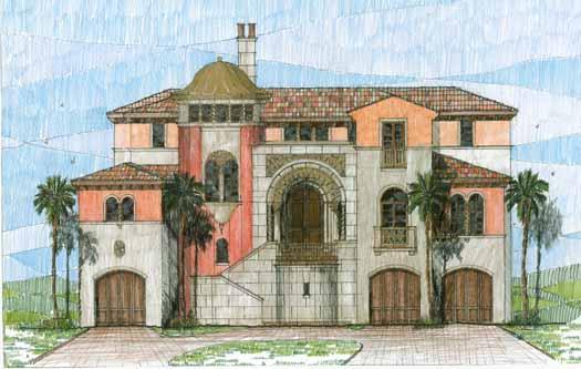 Mediterranean Style House Plans Plan: 54-101