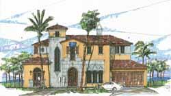 Italian Style House Plans Plan: 54-103
