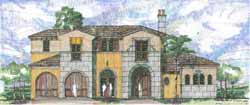 Tuscan Style Floor Plans Plan: 54-104