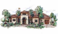 Mediterranean Style House Plans 54-106