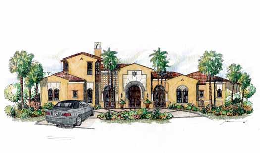 Mediterranean Style Floor Plans Plan: 54-107