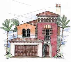 Italian Style House Plans Plan: 54-108