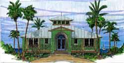 Coastal Style House Plans 54-109